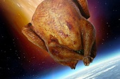 Điều gì sẽ xảy ra nếu một con gà lao thẳng vào Trái Đất với tốc độ gần 300.000 km/giây?