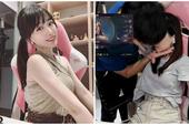 """Đang livestream trên sóng, cô nàng streamer xinh đẹp bất ngờ bị bạn trai lao vào """"cưỡng hôn"""", tỏ ra khó chịu ngay sau đó"""