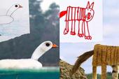 Nếu những bức tranh vẽ của học sinh biến thành động vật ngoài đời thực, chúng sẽ kỳ dị thế này đây