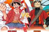 """Cuộc đua song mã One Piece đấu Naruto kết thúc, chiến thắng thuộc về Luffy và """"Thánh"""" Oda!"""