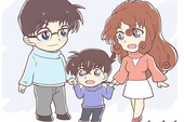 Thám Tử lừng danh Conan: Ngắm gia đình Shinichi hạnh phúc bên nhau mà chỉ biết ước