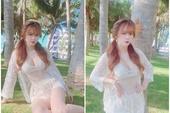Đăng ảnh mới khoe vóc dáng nuột nà, hot girl hay xuất hiện cùng Lộc Fuho khiến dân tình bỏng mắt
