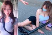 """Dàn cảnh ngã xe scooter để nổi tiếng, cô nàng hot girl bị cộng đồng mạng """"bóc phốt"""", ném đá liên tục"""