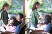 Cô gái tát tới tấp vào mặt bạn trai giữa quán cafe, cô nàng ngồi cạnh hét lớn: