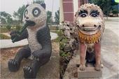 Bộ sưu tập các bức tượng được trang trí mặt ngáo nhất Việt Nam
