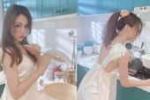 Chỉ mặc tạp dề xuống làm bếp, nàng hot girl đảm đang khiến cộng đồng mạng phấn khích, nô nức tìm thông tin