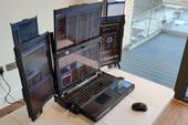 Xuất hiện laptop hàng khủng trang bị đến 7 màn hình với cấu hình cực mạnh, có điều pin chỉ xài được… 1 tiếng