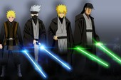 Lạ lẫm khi thấy các ninja trong Naruto tay cầm kiếm ánh sáng theo phong cách Star Wars