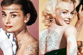 """Marilyn Monroe và loạt sao Hollywood """"biến đổi"""" thế nào khi có thêm những hình xăm?"""