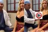 """Bị nghi hack cheat vòng một, hot girl gây sốc khi mời hẳn bác sĩ thẩm mỹ tới, lên sóng """"nắn bóp"""" để chứng minh """"hàng real"""""""