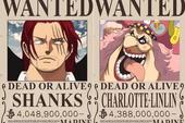 One Piece: 4 lý do giải thích tại sao mức truy nã của Shanks lại thấp hơn 2 Tứ Hoàng Kaido, Big Mom