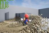 Mario thử nghiệm vật lý của Unreal Engine 4