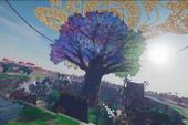 """Choáng ngợp trước """"Cây thần 7 màu"""" đẹp như trong truyền thuyết của game thủ Minecraft Việt"""