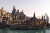 Choáng ngợp với thành phố The Witcher 3 đẹp như trong truyền thuyết của nhóm game thủ Minecraft