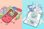 Trở lại bầu trời tuổi thơ cùng loạt tranh Pokemon rực rỡ sắc màu