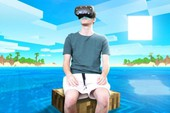 """Thử thách """"điên rồ"""": Chơi Minecraft thực tế ảo liên tục trong 24h"""