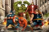 """Chết cười khi phong cách của """"Thor Béo"""" nhập vào các siêu anh hùng khác, tạo ra một vũ trụ """"Fat Heroes"""""""