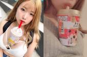 """Trào lưu mới siêu bổ mắt của các hot girl Nhật Bản: Thử thách uống trà sữa bằng ngực """"khủng"""""""