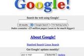 Giao diện đầu tiên của các website nổi tiếng thế giới