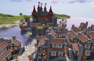 Cận cảnh quá trình xây dựng vương quốc trung cổ trong Minecraft