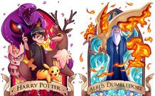 Loạt tranh các nhân vật Harry Potter trở thành huấn luyện viên trong thế giới Pokemon