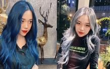 Linh Ngọc Đàm chi tận 16 triệu để nhuộm tóc xanh hot trend, thế nhưng chưa gì đã bay màu hết sạch