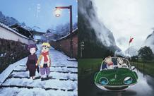 Từ Goku cho tới Naruto đều chân thực một cách khó tin khi yếu tố 2D được đặt trên bối cảnh thực tế