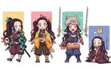 Ngẩn ngơ khi ngắm các nhân vật Kimetsu no Yaiba phiên bản chibi siêu dễ thương