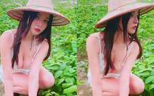 Đăng ảnh ngồi trồng rau giữa trưa nắng, nàng hot girl bị ném đá thậm tệ, cho rằng giả tạo, dàn dựng câu view