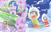 Loạt tranh Doraemon cùng bạn hữu