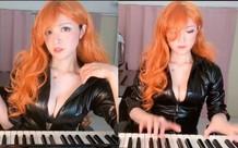 Thay áo liên tục và chơi piano trên sóng, nữ streamer khiến triệu fan vừa sướng tai vừa sướng mắt