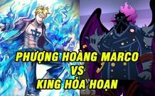 One Piece: Hồi hộp ngóng trận chiến trên không đáng xem nhất Wano giữa Phượng hoàng lửa Marco và khủng long bay King
