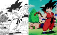Dragon Ball: So sánh ảnh đen trắng với bản gốc anime, kẻ tám lạng người nửa cân, Goku vẫn quá
