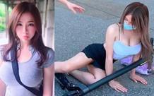 Dàn cảnh ngã xe scooter để nổi tiếng, cô nàng hot girl bị cộng đồng mạng