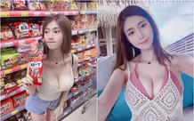 Nhá hàng hình selfie trong siêu thị, nàng hot girl gây sốc cộng đồng mạng, trang cá nhân đã có hơn 3 triệu lượt follow