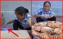 Bà Tân Vlog dùng bàn tay đang nhào bột để kéo ghế ngồi, dân mạng lại than