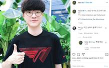 Ngay bài đăng thứ 3 trên Instagram, Faker đã làm
