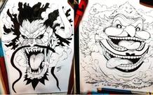 Giật mình khi thấy các Tứ Hoàng trong One Piece biến thành Titan trong Attack on Titan
