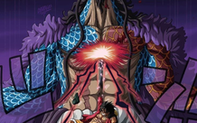 Ấn tượng với cú móc hàm của Luffy khiến Kaido gục ngã, các fan bỗng nhiên nhắc đến trận chiến trong Naruto