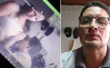 Thầy giáo khốn đốn vì quên tắt camera rồi hôn ngực vợ sau khi giảng bài trên Zoom