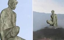 Đảo Síp khoe tượng khổng lồ cao 40m mới xây, tạo dáng khó hiểu nên lại thành... nhạy cảm