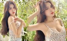 Nóng bức, hot girl con lai Việt - Trung mặc áo dây trễ nải, thu hút sự chú ý của cộng đồng