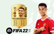 Vừa về MU, Ronaldo lập tức bị tụt hạng trong FIFA 22