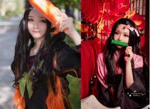 """Kimetsu no Yaiba: """"Em gái quốc dân"""" Nezuko hóa nữ sinh trung học đẹp dịu dàng mà không chói lóa"""