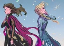 """Chị em """"Nữ hoàng băng giá"""" Elsa trong Frozen lột xác từ diện mạo tới tính cách qua nét vẽ của fan"""