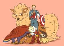 Mãn nhãn với loạt tranh vẽ khi các siêu anh hùng Marvel trở thành huấn luyện viên Pokemon