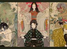 Lặng người khi ngắm bộ ảnh fan art Kimetsu no Yaiba mang âm hưởng văn hóa dân gian Nhật Bản