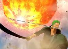 """One Piece Stampede: Mãn nhãn trước phân cảnh Zoro ngầu """"bá cháy"""" chém đôi thiên thạch của Hổ Tím Fujitora"""