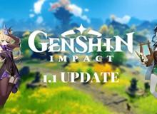 Genshin Impact chính thức hé lộ lịch cập nhật: Phiên bản 1.1 chính thức ra mắt vào ngày 11/11, dự kiến cứ 6 tuần lại mở rộng tiếp!