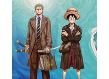 """One Piece: Kỷ niệm 4 năm phát hành, tạp chí nổi tiếng của Trung Quốc cho Luffy và Zoro mặc đồ Gucci """"xa xỉ"""""""